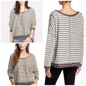 Free People Striped Dolman Pullover Sweater